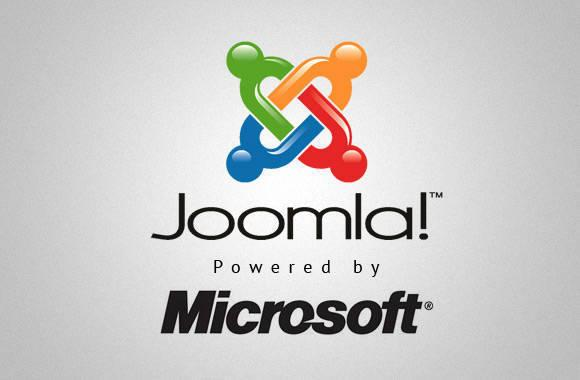 joomla powered by Microsoft