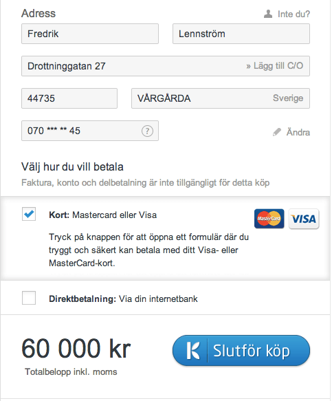 Klarna Checkout in Norway & Finland