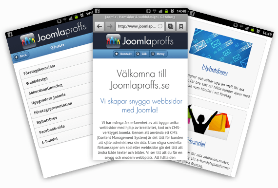mobile-joomla websites