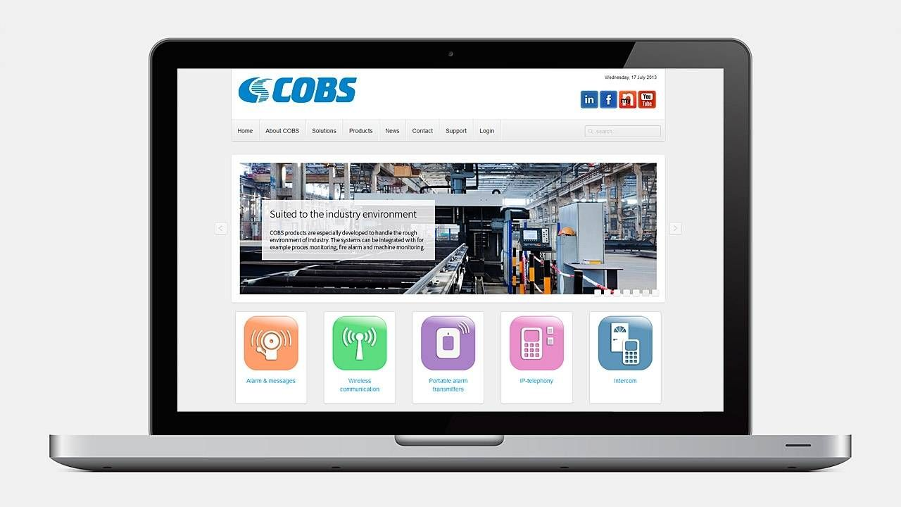 Product catalogue & support portal...