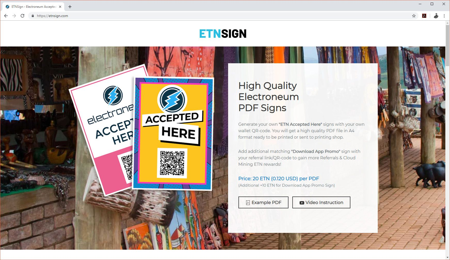 Generate PDF signs with ETNSign.com