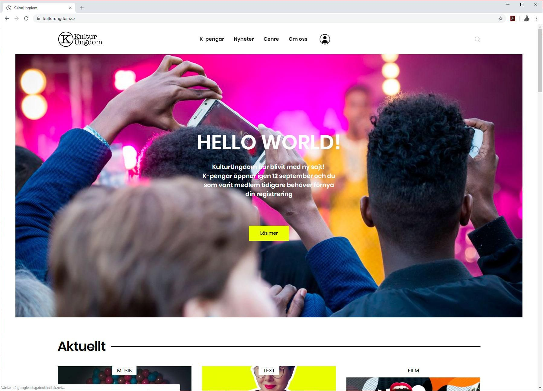 KulturUngdom.se new website